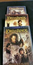 First 3 Lord Of The Rings Dvd Wide Screen Edition
