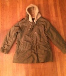 Vintage B-11 Air Force Jacket Mouton Hood Military Ww2 Wwii Us Army Air Force