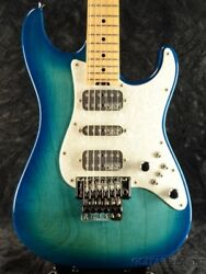 SCHECTER EX-V-22-STD-FRT Custom Order Blue Burst with Hard Case