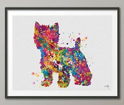 Westie Dog Watercolor Print West Highland Terrier Gift Pet Dog Lover Dogart