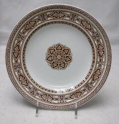 Spode China Sardinia Brown Pattern Dinner Plate - 10-3/8 Manufactured In 1858