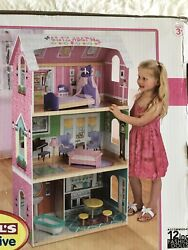 """New Kidkraft """"my Very Own"""" Wood Dollhouse With Furniture And Personalization"""