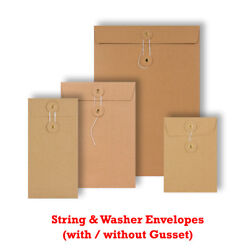 Manilla String And Washer Envelopes Bottomandtie Craft Mailer Fast And Free Delivery