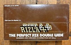 Vintage 1980 Cigarette Rizla Double Wide Box Of 25 Rolling Papers Rice Nos Vhtf