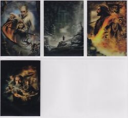 The Hobbit The Desolution If Smaug,'lenticular Poster' Chase Card Set Ka05-8