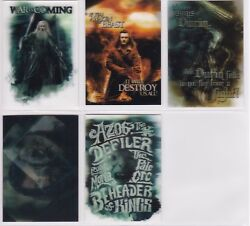 The Hobbit Battle Of The Five Armies, 'lenticular Poster' Chase Card Set Ka09-13