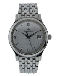 JAEGER-LECOUTRE MASTER CONTROL DATE STAINLESS STEEL SILVER DIAL ON BRACELET 1...