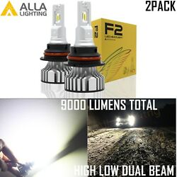 Alla Legal Pure White LED 9007 Daytime Running Light DRL |Fog| Headlight Bulb