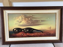 "VLADIMIR KUSH ""FORGOTTEN SUNGLASSES "" FRAMED #39 OUT OF 325"