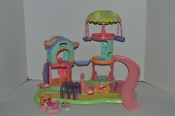 Littlest Pet Shop~#79~Maltese~#80~Mouse~2004~Whirl Around Playground~Complete