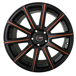 4 GWG MOD 18 inch Black Red Mill Rims 18x9 fits CHEVY IMPALA 2000 - 2013