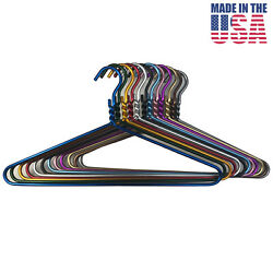 204 Pack Colorful Dodco Heavy Duty Clothes Coat Hanger Aluminum Metal Usa Made