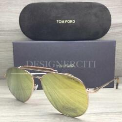 Tom Ford Sean TF536 536 Sunglasses Rose Gold Havana 28G Authentic 60mm