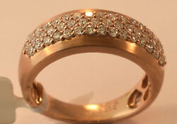 Ladies 14k Rose Gold Diamond Ring Band Size 7 New With Tags