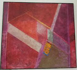 Antique Vintage Great Mcm Mid Century Modern Abstract Painting Great Palette
