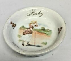 Antique German Baby Dish Early 1900and039s A