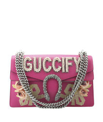 Gucci 400249 Small Dionysus Guccify  Pink Leather Shoulder Bag