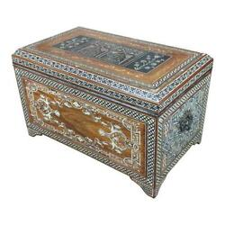 Fabulous Syrian wooden Mother of Pearl Chest  wCalligraphy