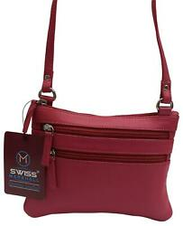 Womens Genuine Leather Small Crossbody Shoulder Designer Bag and Ladies Purse