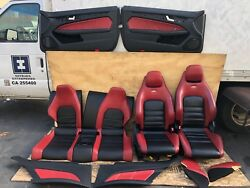 2008-2014 MERCEDES W204 C63 AMG SPORT LEATHER SEAT SEATS DOOR PANEL TOW TONE OEM