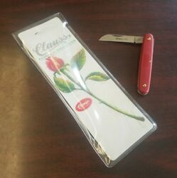 New. Clauss Vintage Red Pk3 One Blade Knife