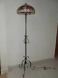 Floor Lamp Wrought Iron With Glass For 40 Cm Living Room Dining Room
