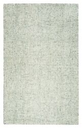 Rizzy Brindleton Soft Wool Rectangle Area Rug 12 X 15and039 Green Ivory White Solid