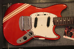 Fender 1969 MUSTANG Competition Red Finish with Back Stripes With Hard Case