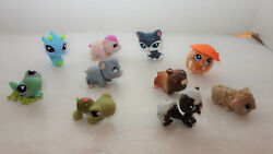 LOT of 10 Mixed LPS - Littlest Pet Shop Pets - USED