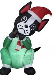ANIMATED AIRBLOWN BEGGING DOG BOSTON TERRIER CHRISTMAS INFLATABLE Gemmy