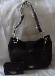 AUTHENTIC NWT GUESS DELTA HOBO SATCHEL BAG PURSE WITH MATCHING WALLET