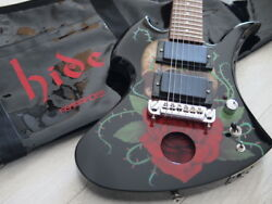 Burny hide MODEL SKULL ROSE-Jr Electric Guitar