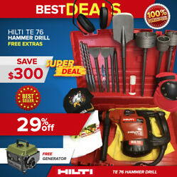 Hilti Te 76 Hammer Drill, Preowned, Free Generator, Bits And Extras, Fast Ship