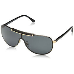 Versace Ve2140 Sunglasses Black And Gold/ Grey 40mm