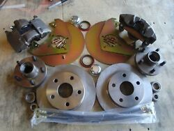 1970 1971 1972 1973 Ford Mustang Front Disc Brakes 5 Lug Fits Orig 14 Wheels