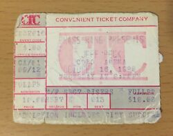 1980 Jeff Beck There And Back Tour Detroit Concert Ticket Stub The Yardbirds Group