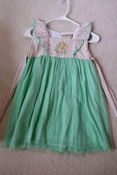 WDW Well Dressed Wolf Mint and Magnolia Girl Dress EUC Rare HTF Size 6