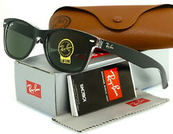 RAY BAN NEW WAYFARER RB2132 6052 58MM BLACK TRANSPARENT GREEN CLASSIC G 15 $95.69