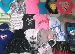 GIRL'S SIZE 18 JUSTICE UNDER ARMOUR HOLLISTER AERO ABERCROMBIE CLOTHING LOT EUC!