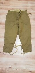 Vintage Soviet Military Winter Wadded  Trousers -Riding Breeches