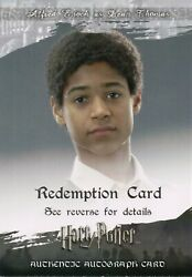 Harry Potter And The Order Of Phoenix Alfred Enocha Auto Redemption Card 'expired'