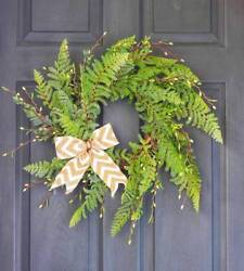 20 Artificial Wreath Front Door Knottedbow Home Decor Display Rustic Farmhouse