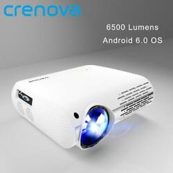 Crenova 6500 Lumens Home Theater Projectors For Full Hd 4k2k Movies With Androi