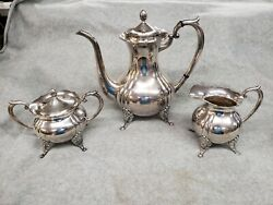 Vintage Miyata .950 Sterling Silver 3 Piece Tea Set Nice