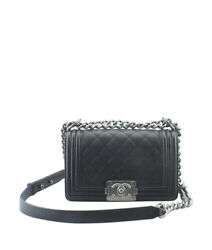 Chanel Boy Black Quilted Leather Crossbody Bag