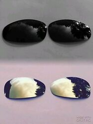 POLARIZED ONYX BLACK & 24k GOLD MIRRORED REPLACEMENT LENSES FOR OAKLEY JULIET