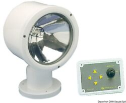 Osculati White Uv-resistant Abs Electrically Operated Light With Sealed Beam 24v