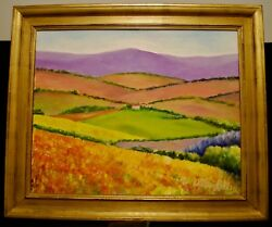 William Kelley Original Oil Painting Of Tuscany Circa 2006 Signed Lower Right