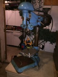 Antique Atlas Drill Press With Packard Motor. 1950's