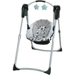 Portable Baby Swing Compact Full Size Etcher Adjustable Legs Folding Travel Gear